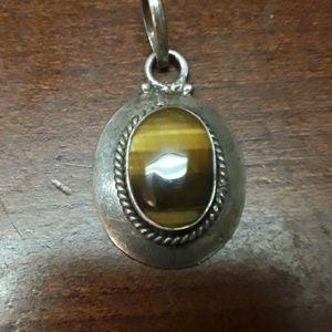 sterling tiger's eye pendant